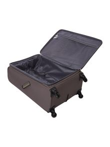 Hyperlite charcoal 4 wheel soft large suitcase