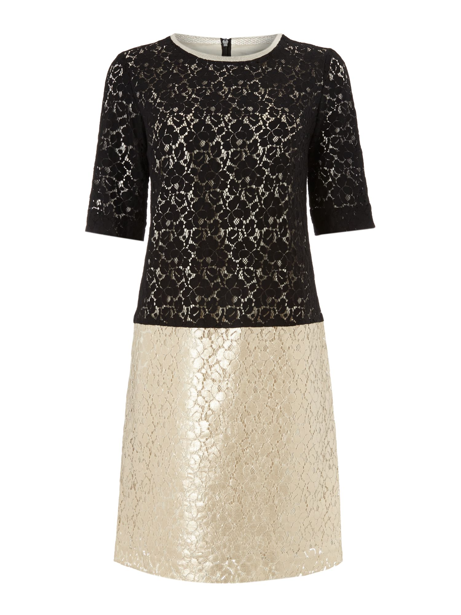 Lace shift occasion dress