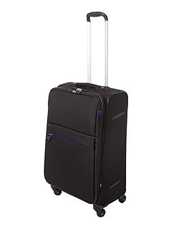 Hyperlite black 4 wheel soft medium suitcase