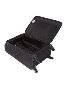 Linea Hyperlite black 4 wheel soft medium suitcase