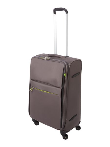 Linea Hyperlite charcoal 4 wheel soft medium suitcase