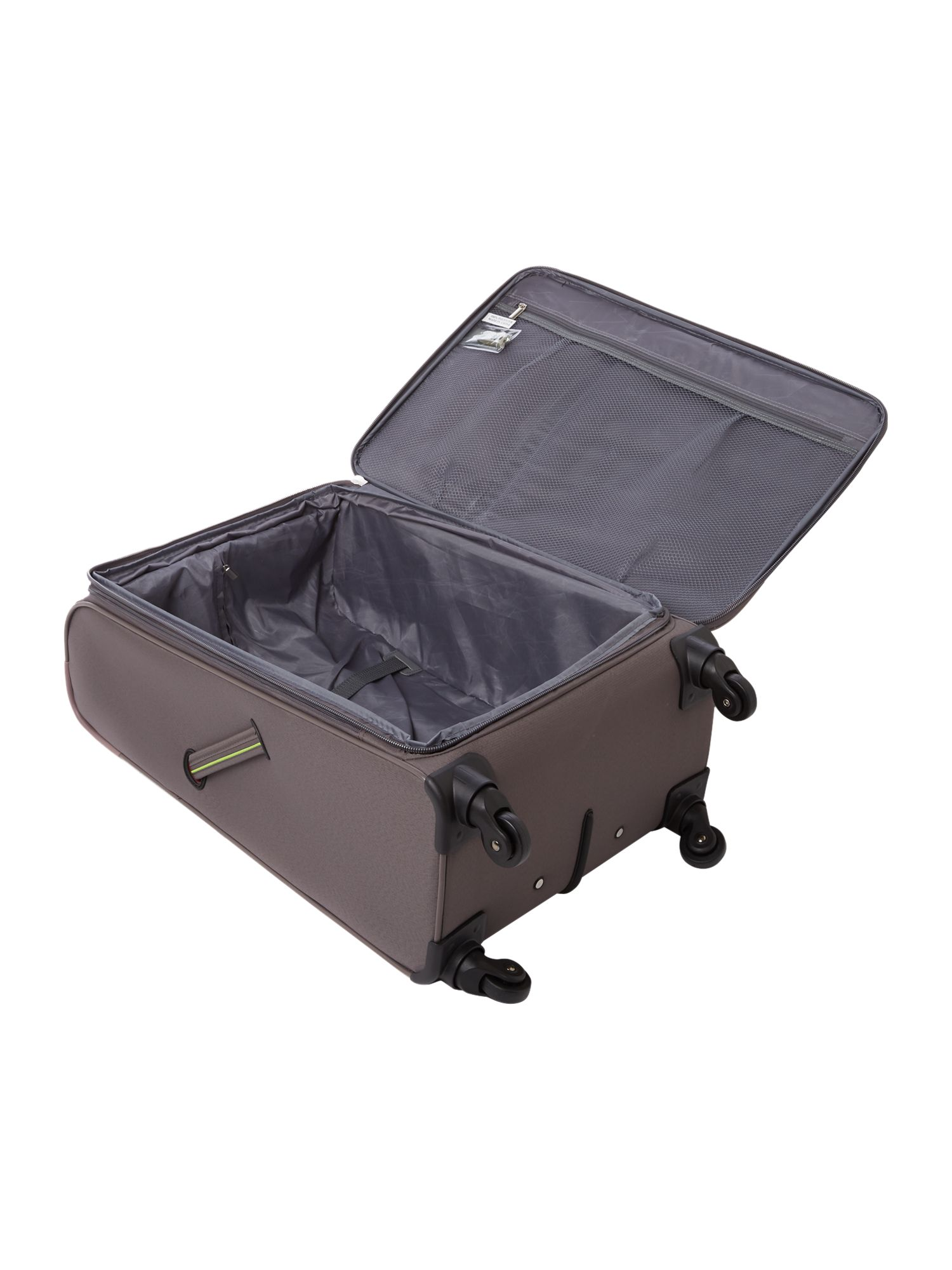 Hyperlite charcoal 4 wheel soft medium suitcase