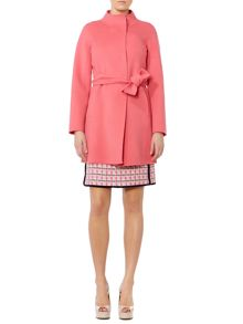 Egitto long sleeve belted wool coat
