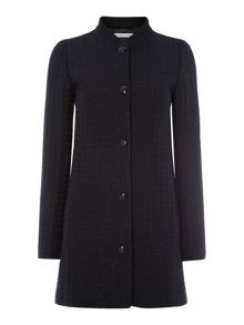 Nube long sleeve button coat with sparkle detail