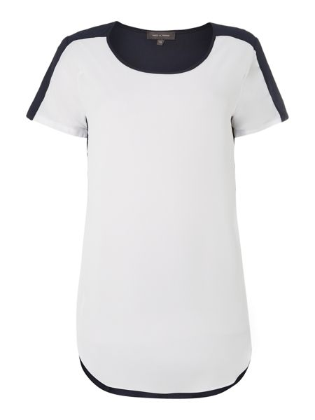 Pied a Terre Tonal Panelled Tee