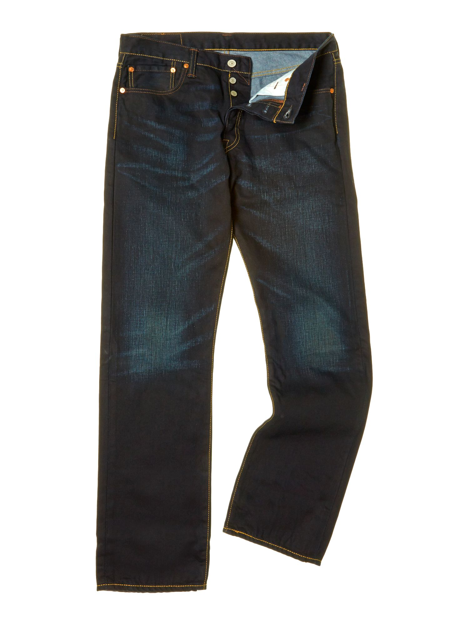 501 straight muddy water wash jean