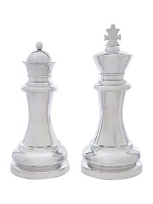 Chess king & queen Xl set of two