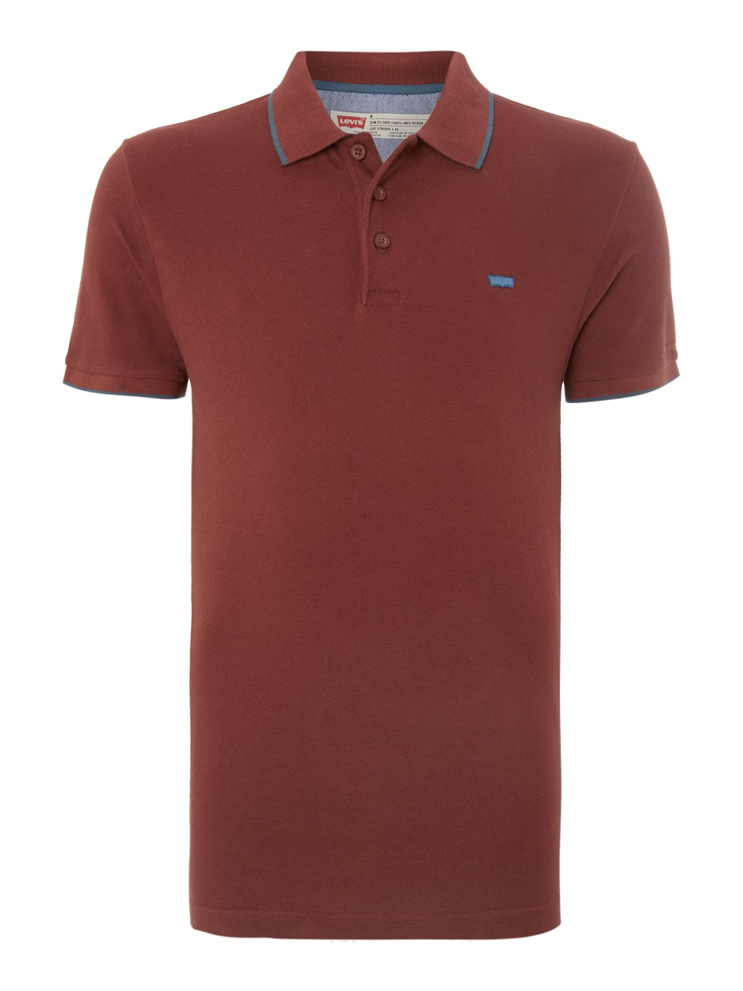 Bernal slim pique collar polo shirt