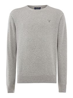 Lightweight Cotton Crew-Neck Jumper
