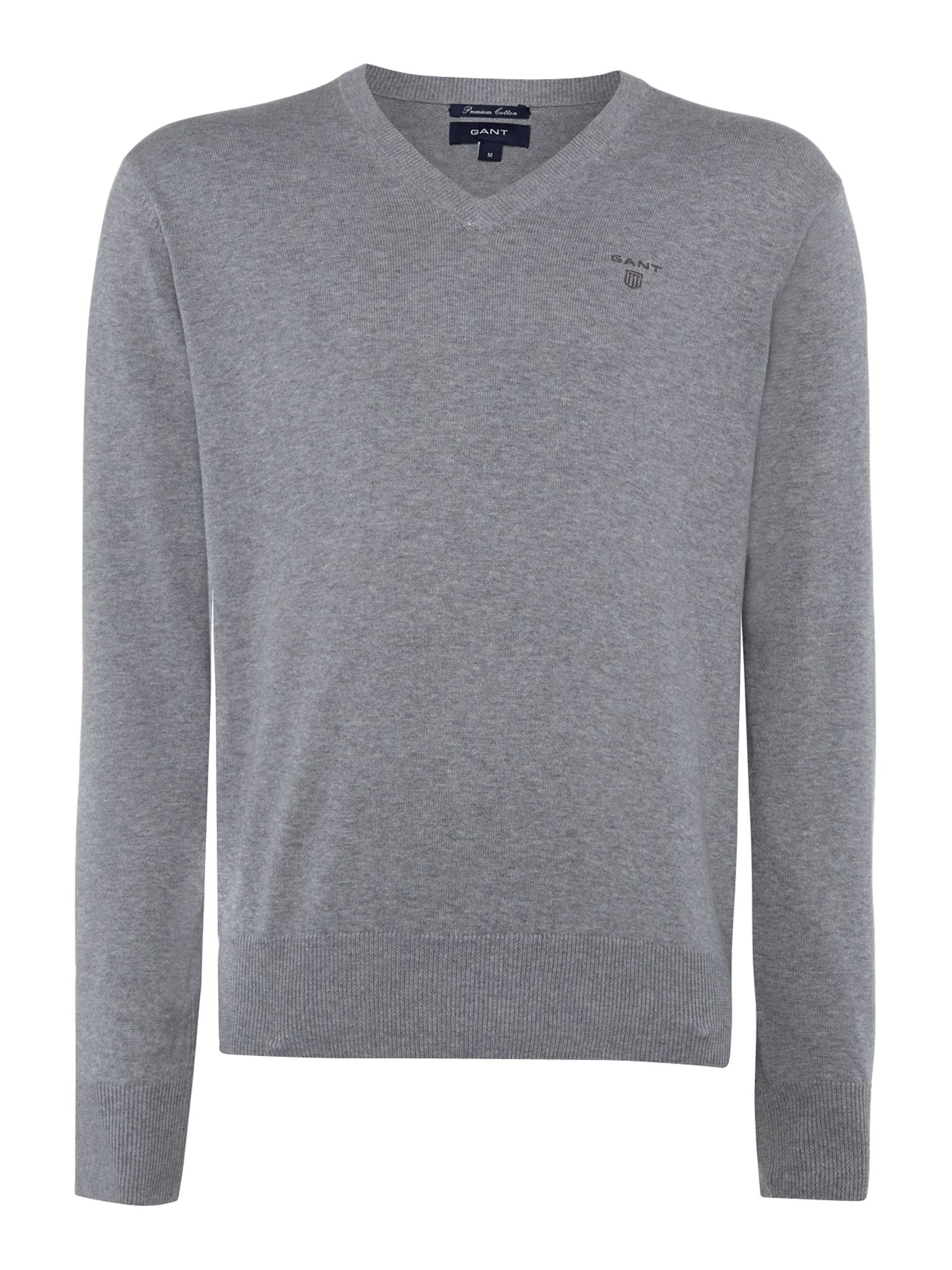 Cotton V neck jumper