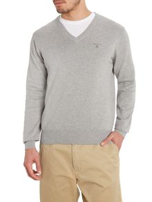 Gant Cotton V Neck Jumper