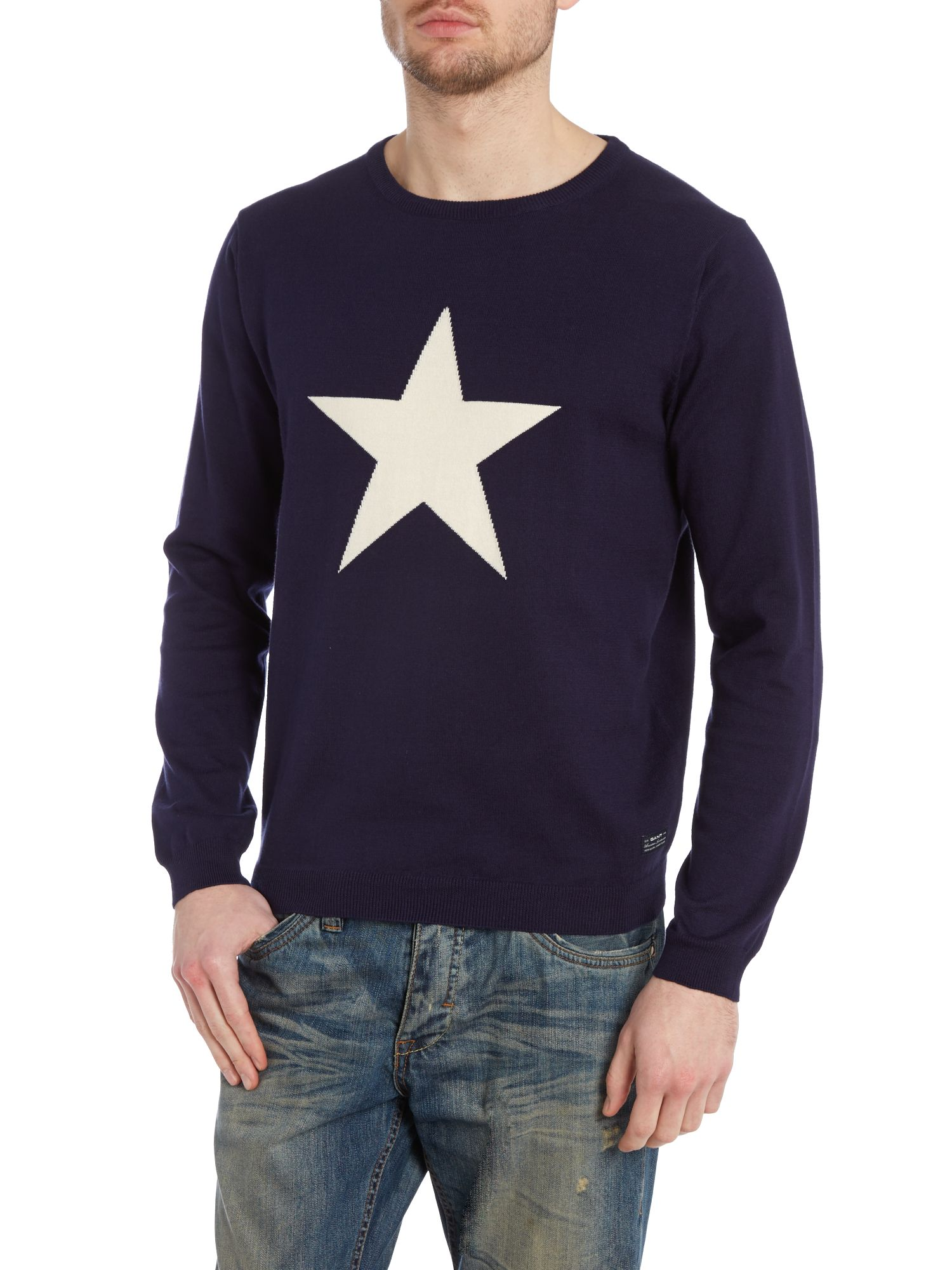 Lightweight star print jumper