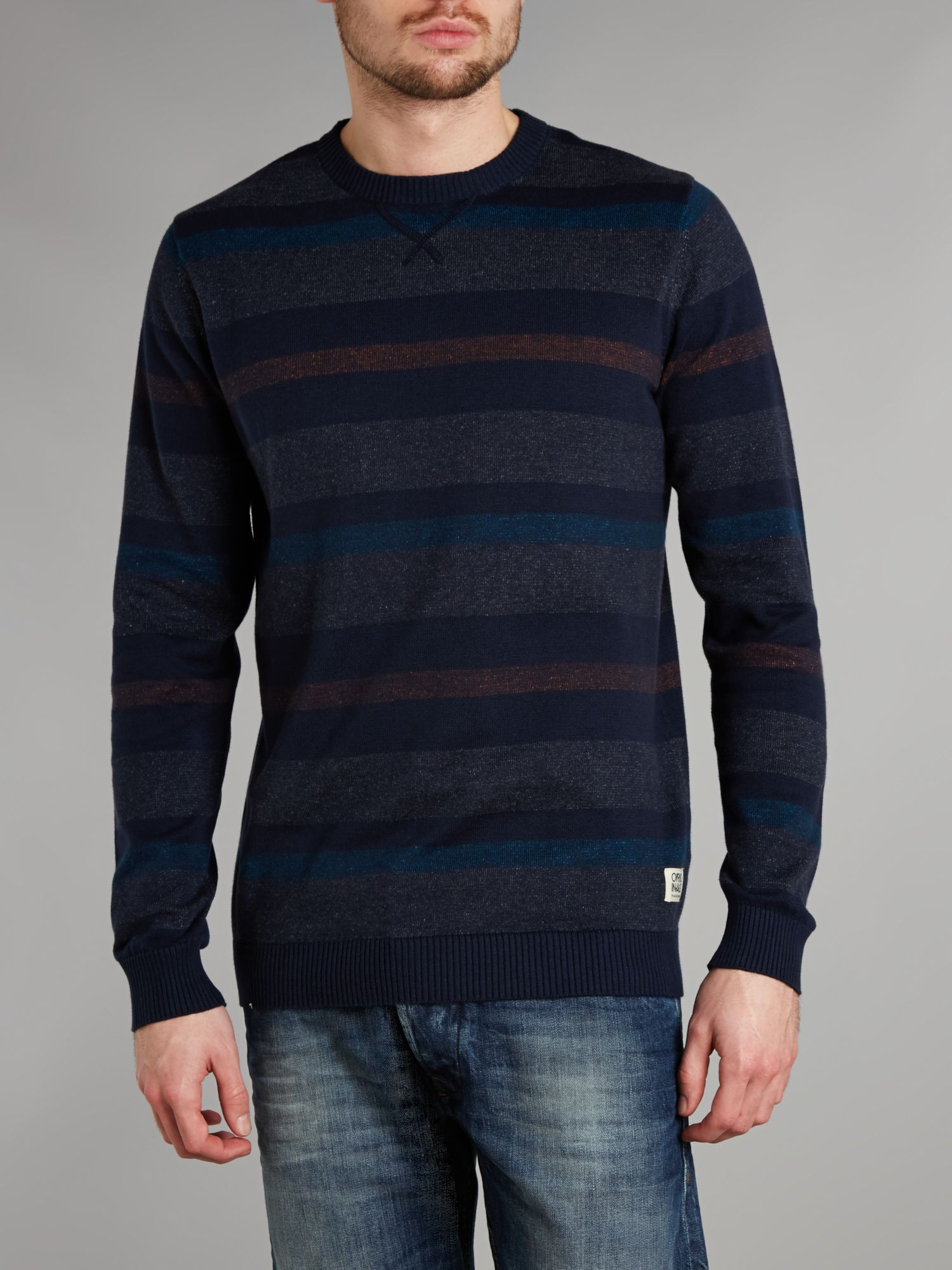 Striped crew knit