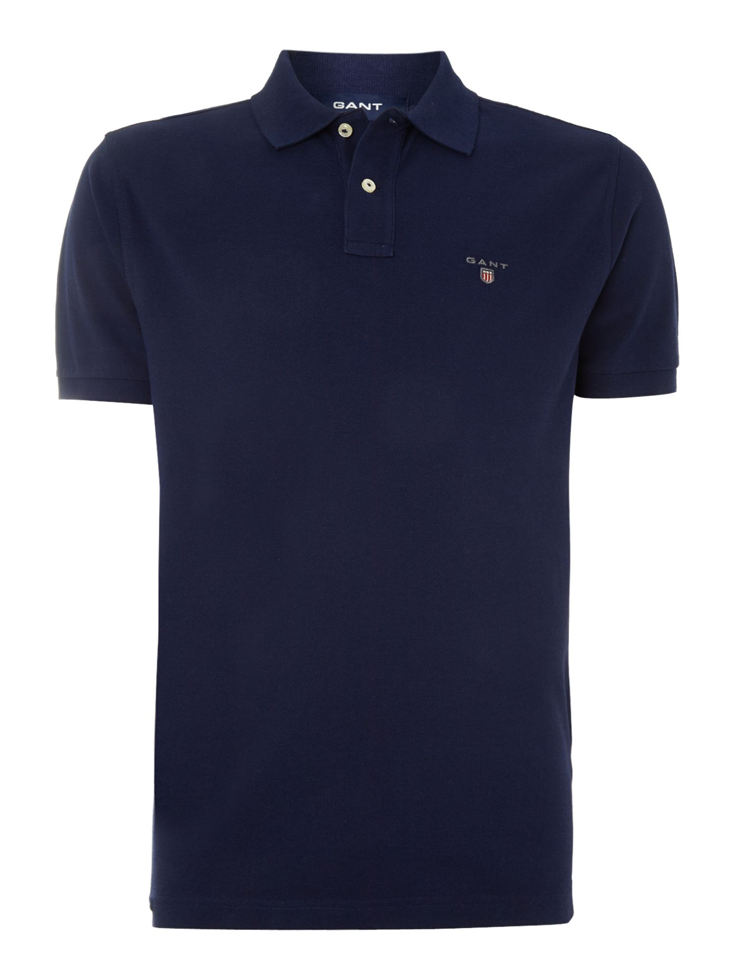 Men's Gant Pique Polo Shirt, Blue