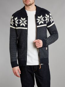 Fairisle zip through knit