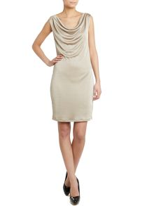 Liu Jo Sleeveless cowl neck lurex dress