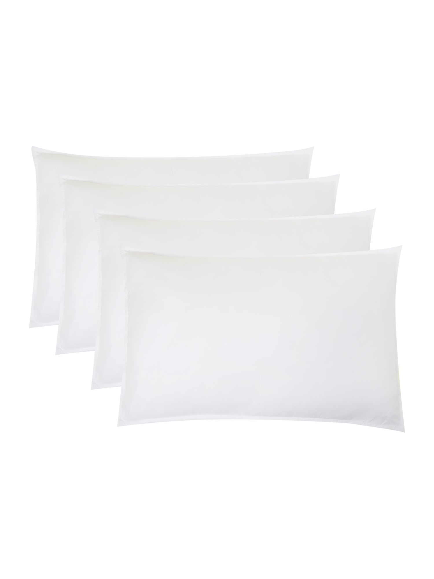 Washable anti allergy pack of four medium pillows