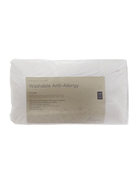 Linea Washable anti allergy pack of four medium pillows