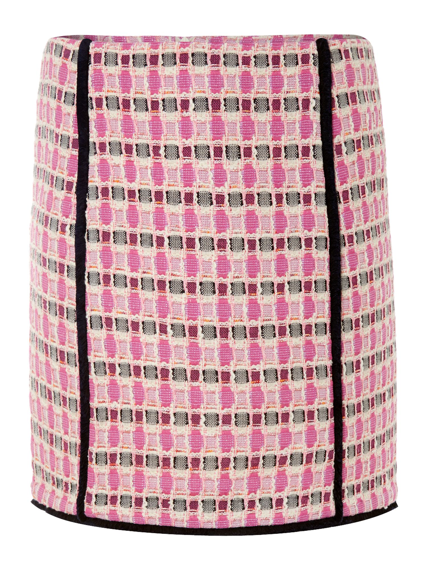 Bruco boucle a-line skirt in check