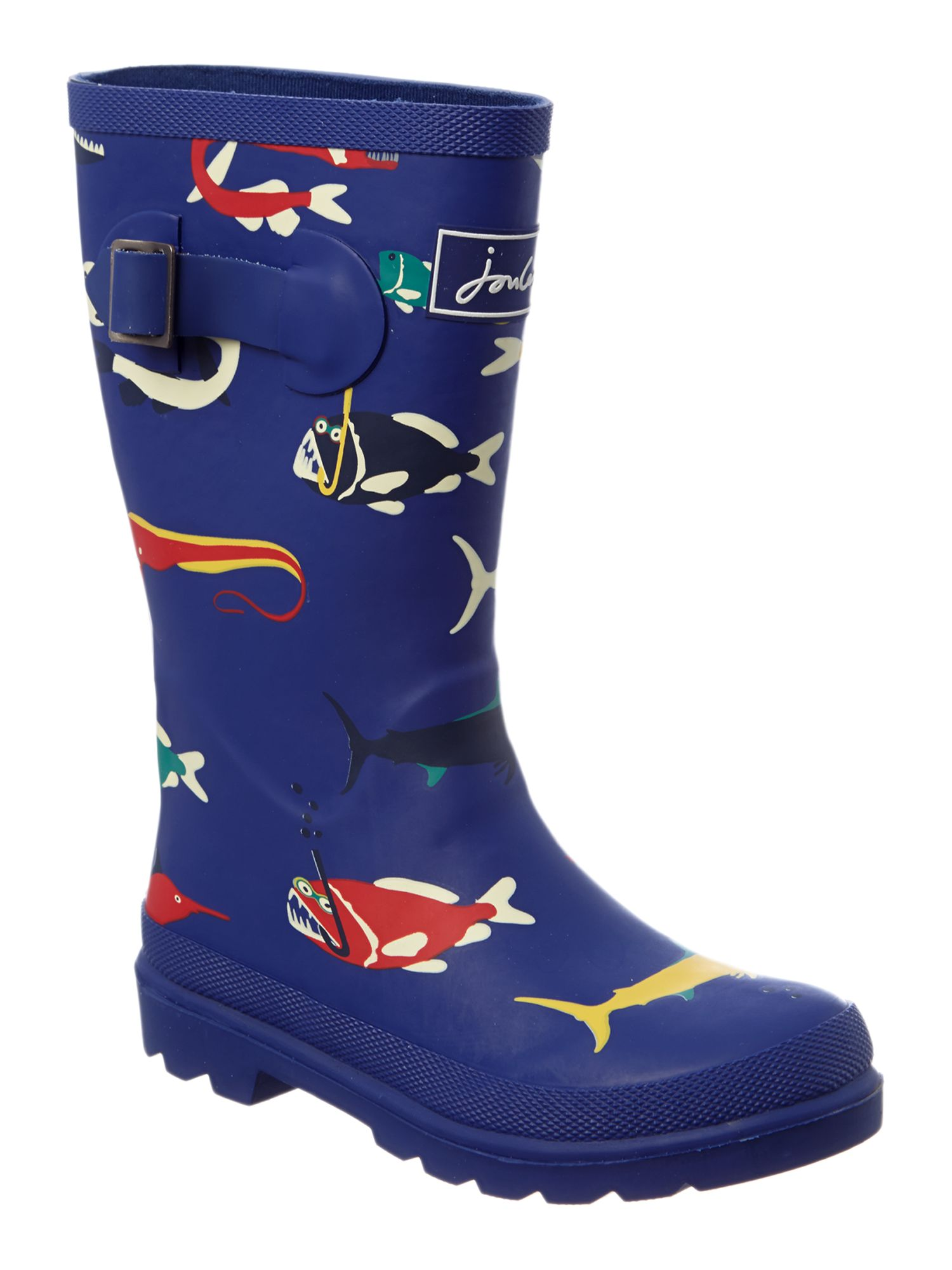 Boy`s scary fish wellies
