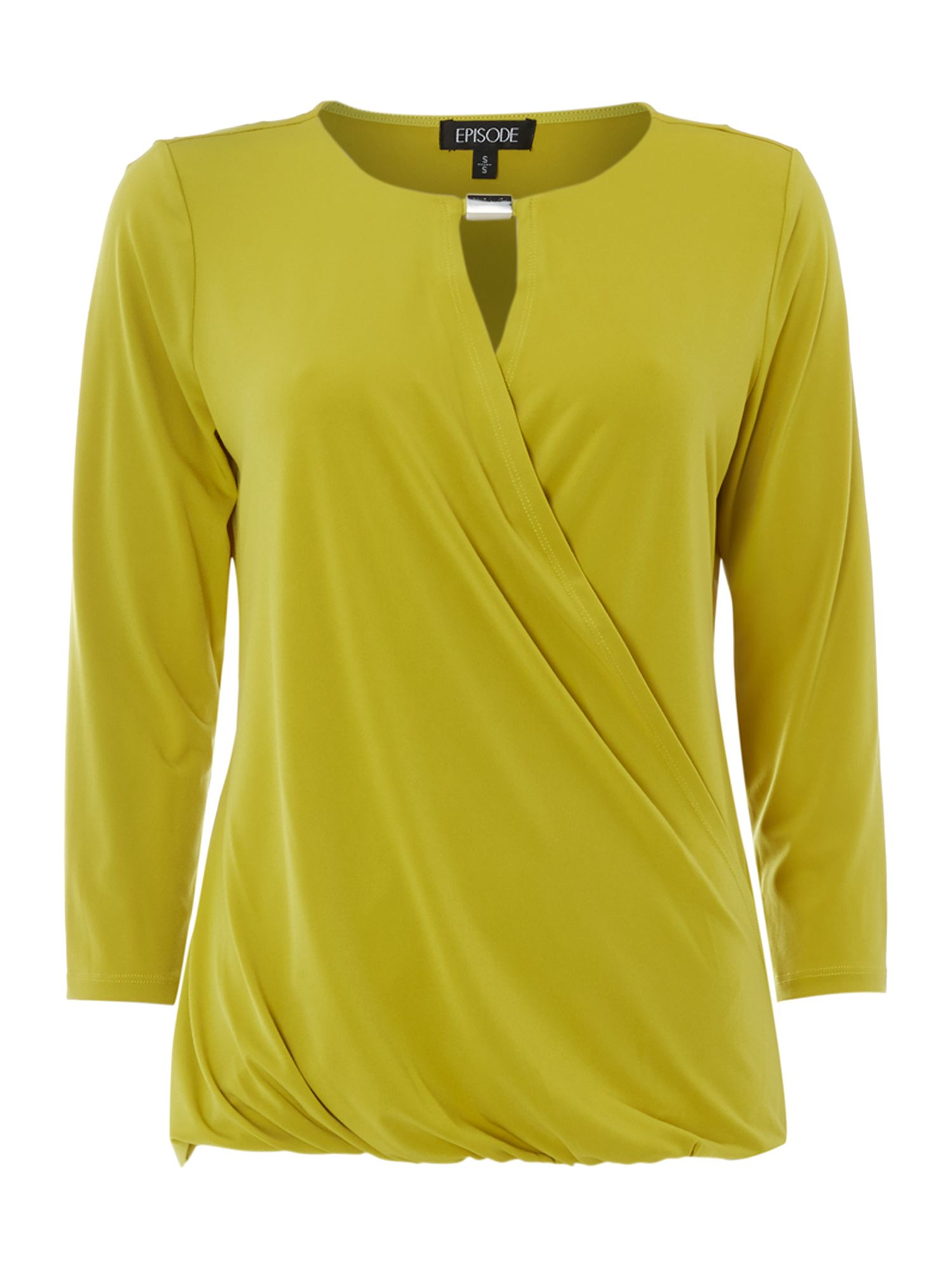 Long sleeve twist detail jersey top