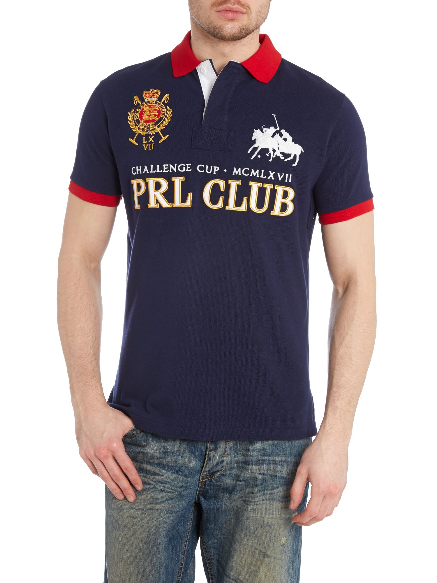 PRL club logo custom fit polo shirt