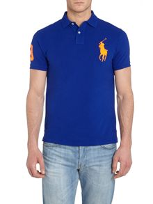 Big pony 3 sleeve slim fit polo shirt
