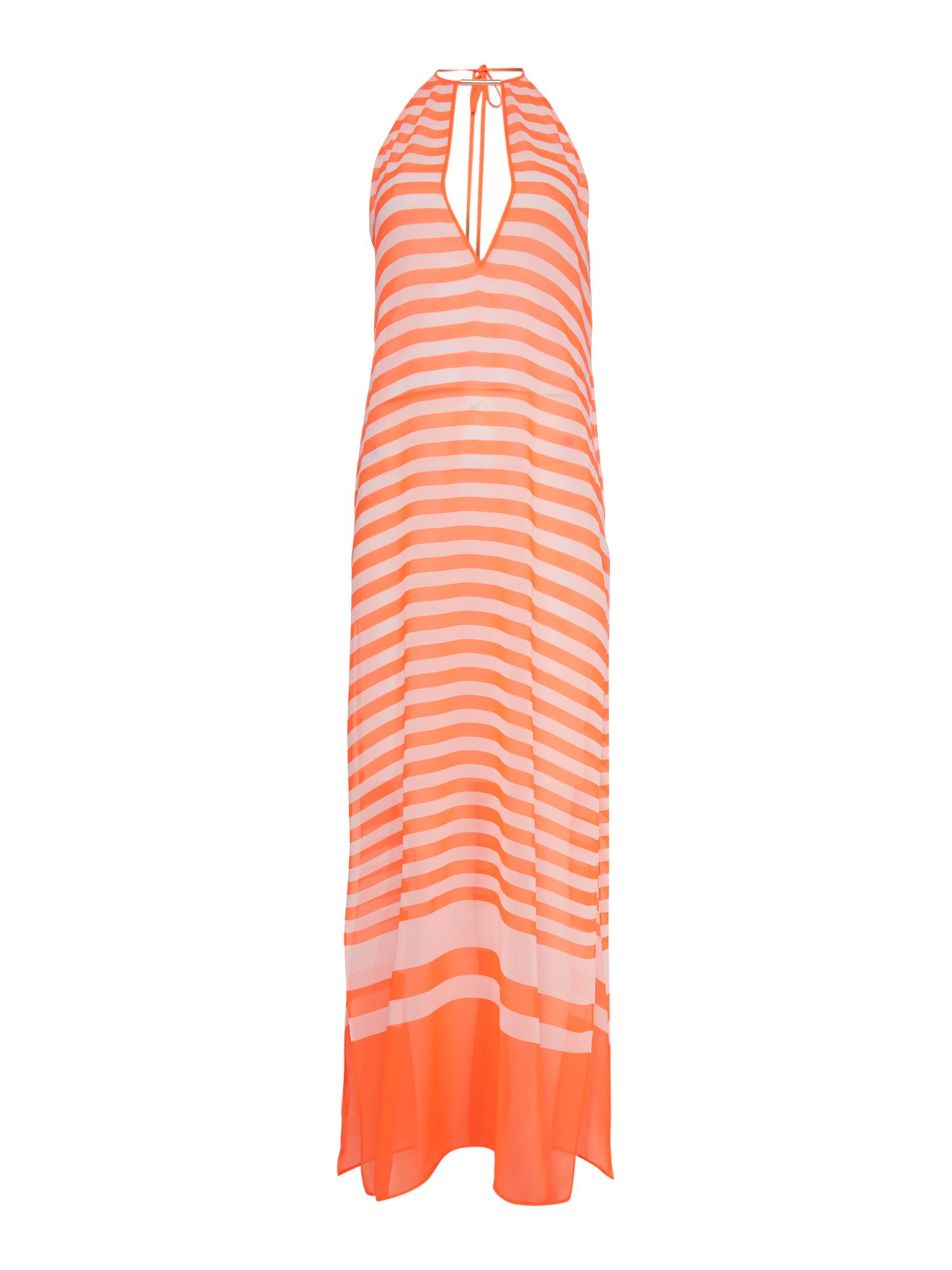 Neon loop v neck cover up