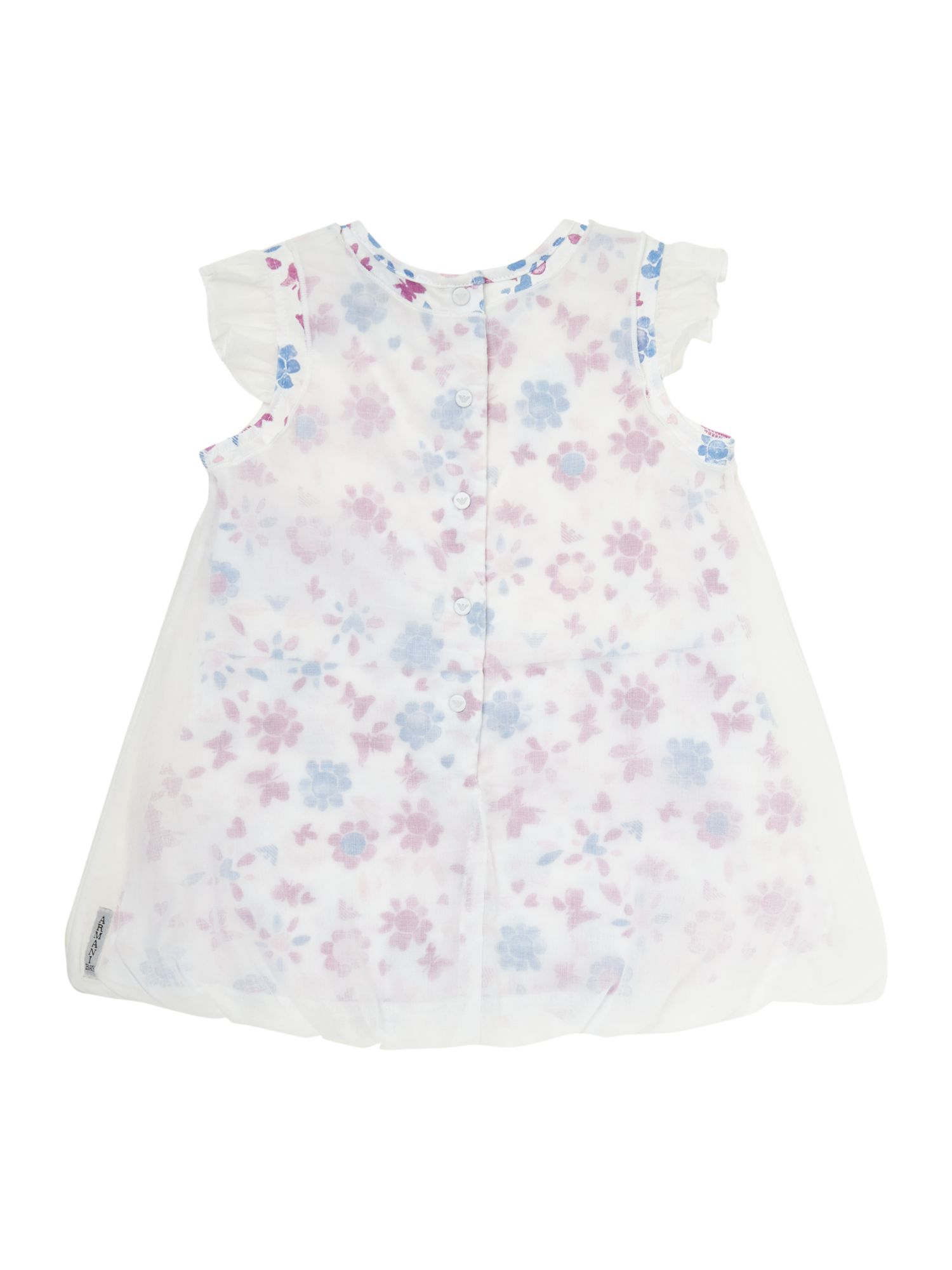 Girl`s newborn floral layered dress