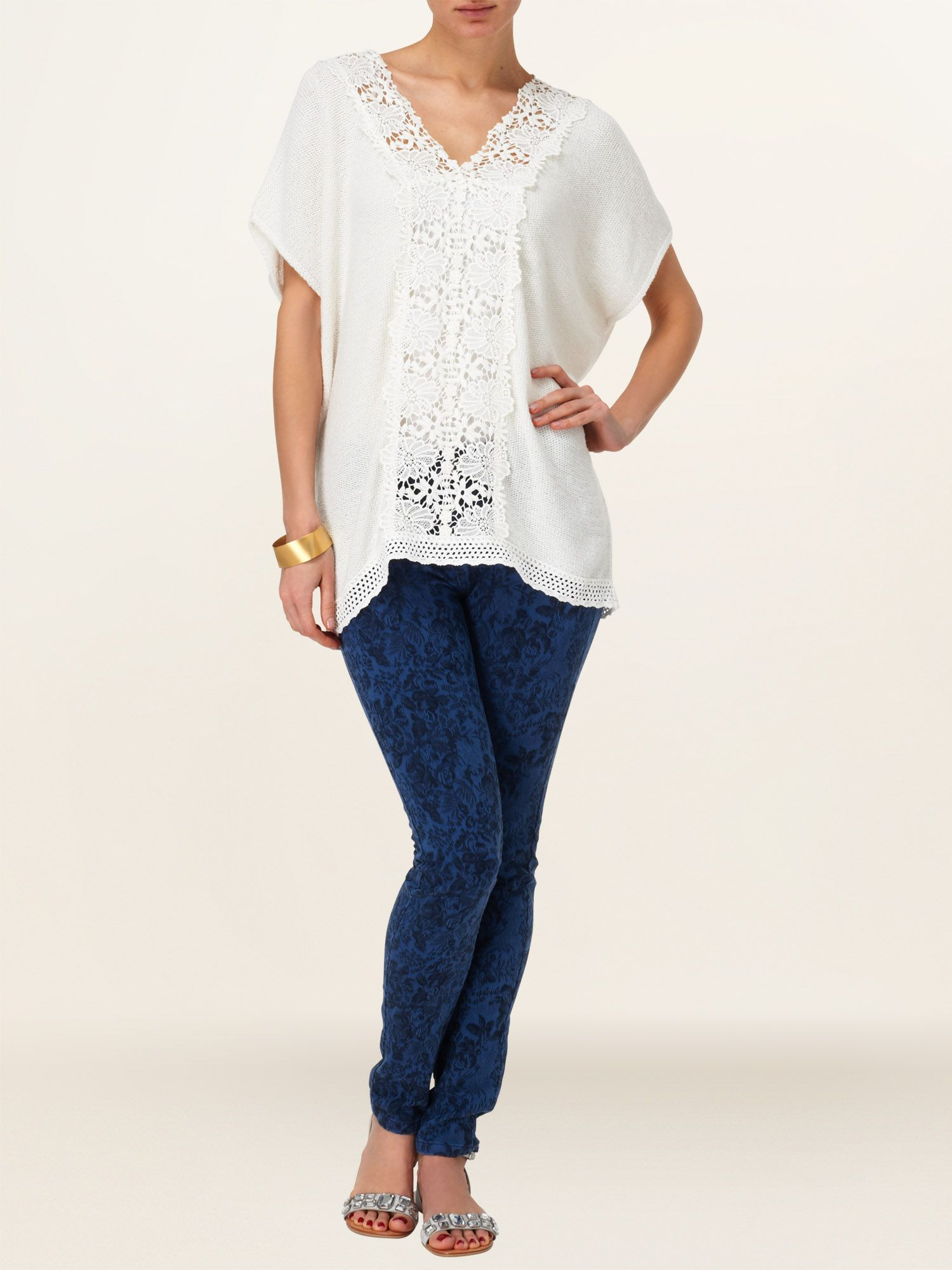 Linsay lace knit top