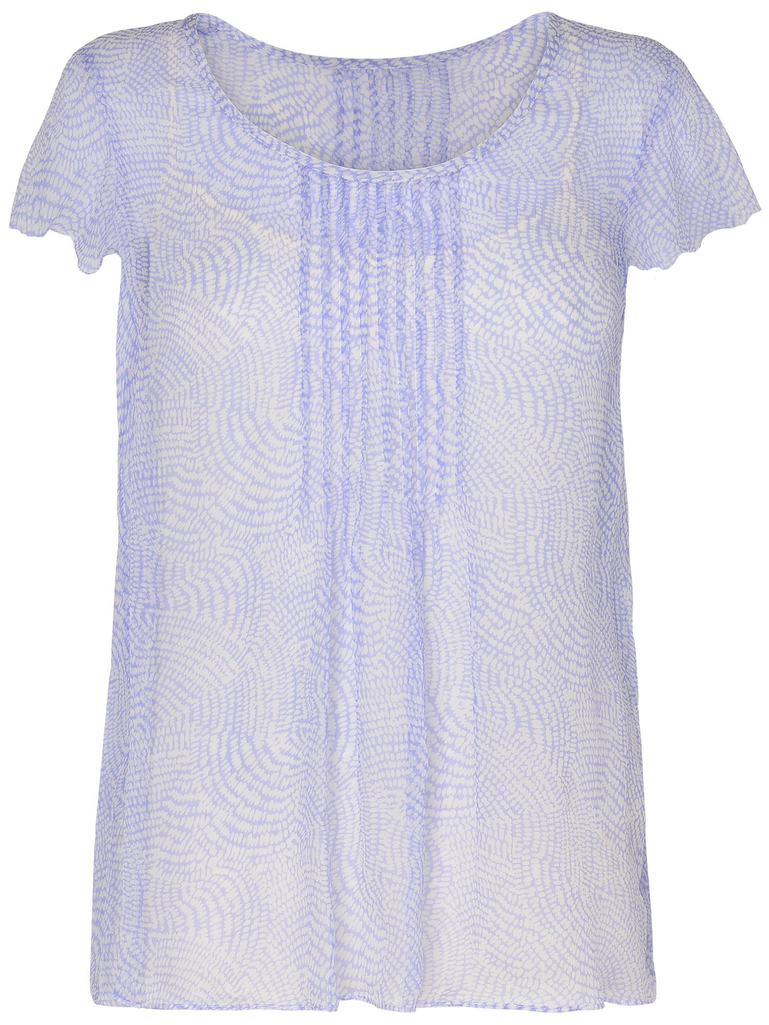 Toulouse dot silk pleated top