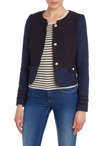 Nautical button detail front jacket