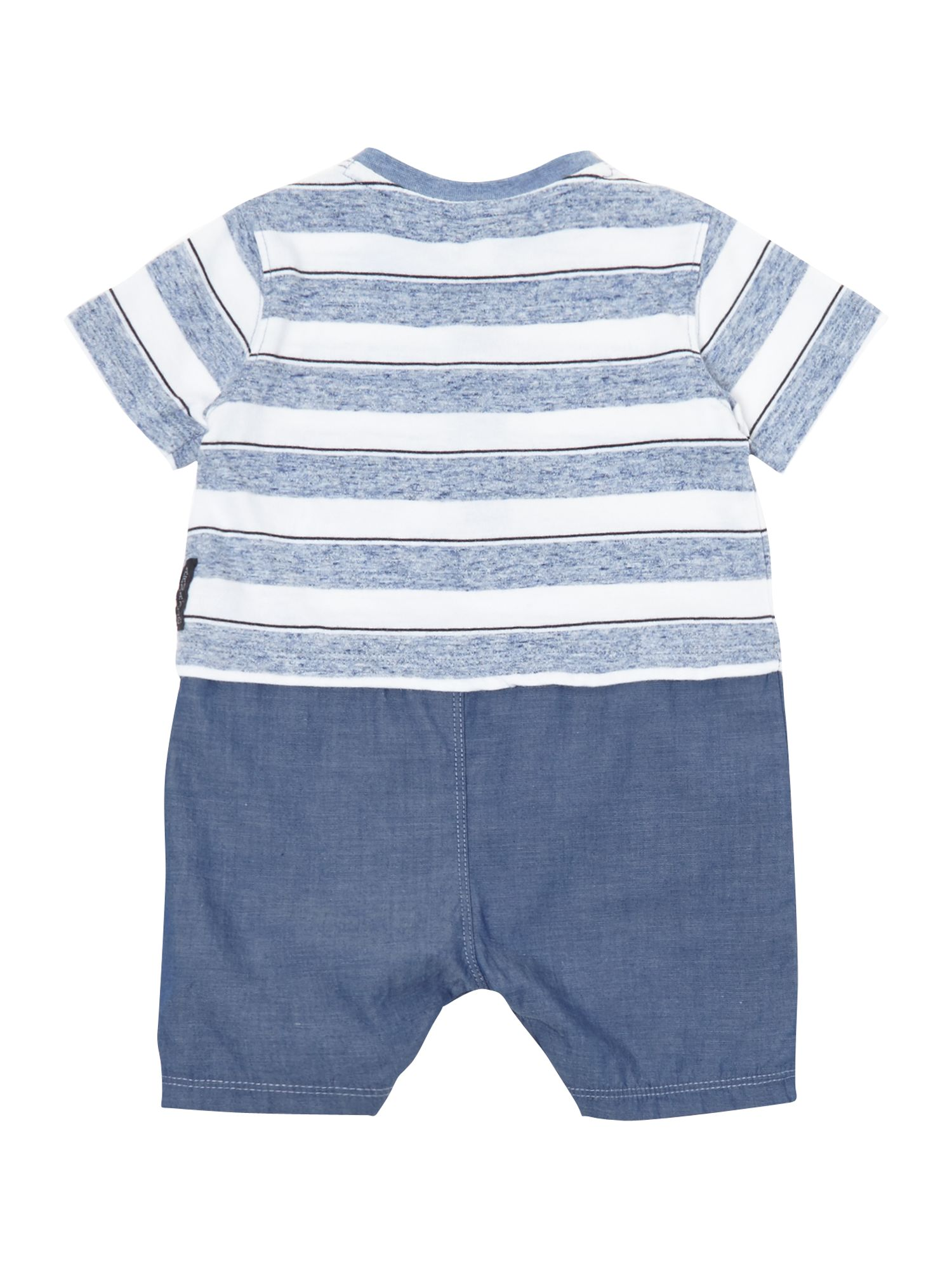 Boy`s two-in-one striped romper
