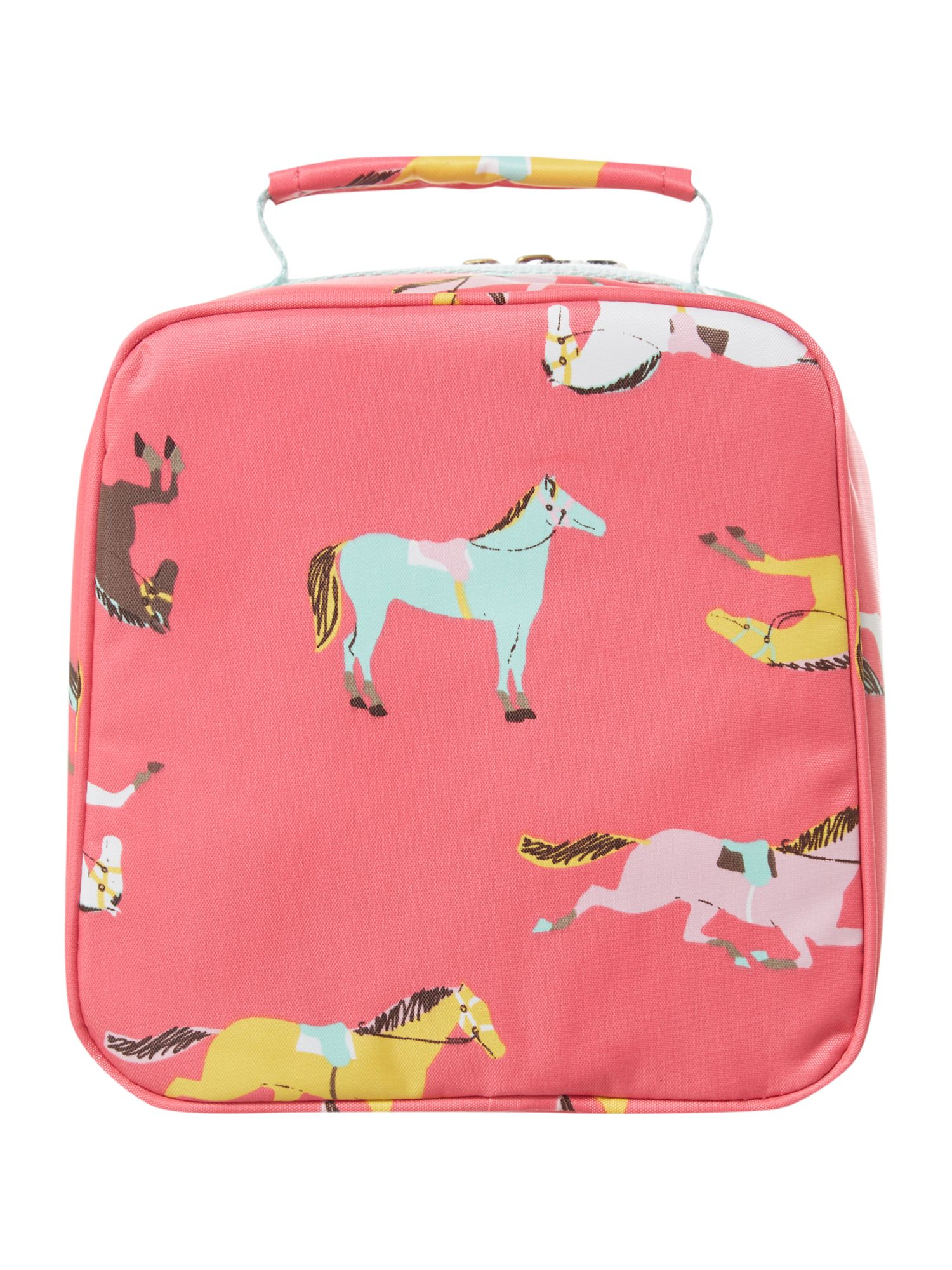 Girl`s pony print lunch bag