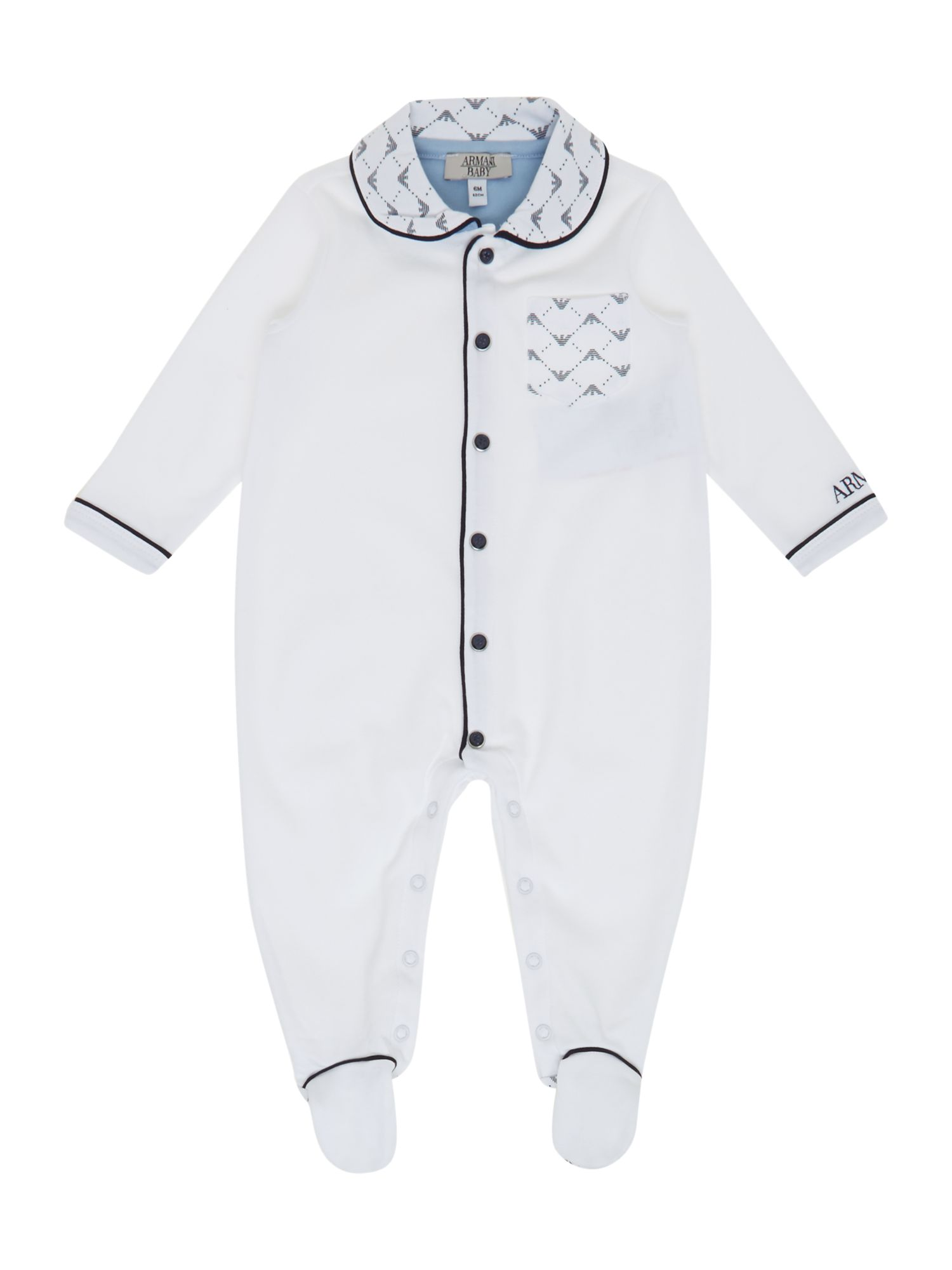 Baby`s all over logo babygrow