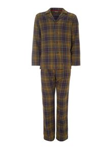 Long sleeve woven check shirt and pant gift set