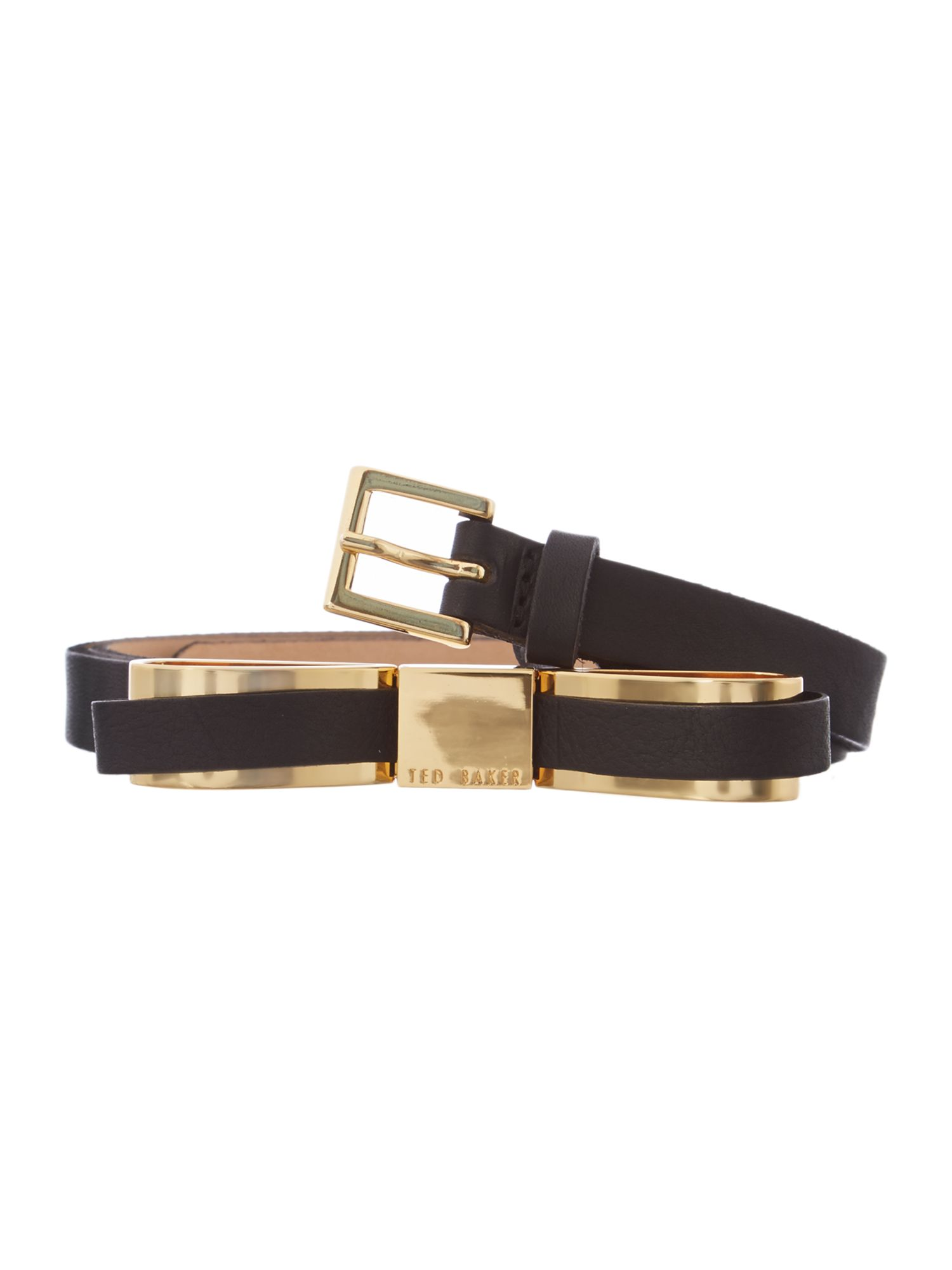 Black bow leather belt