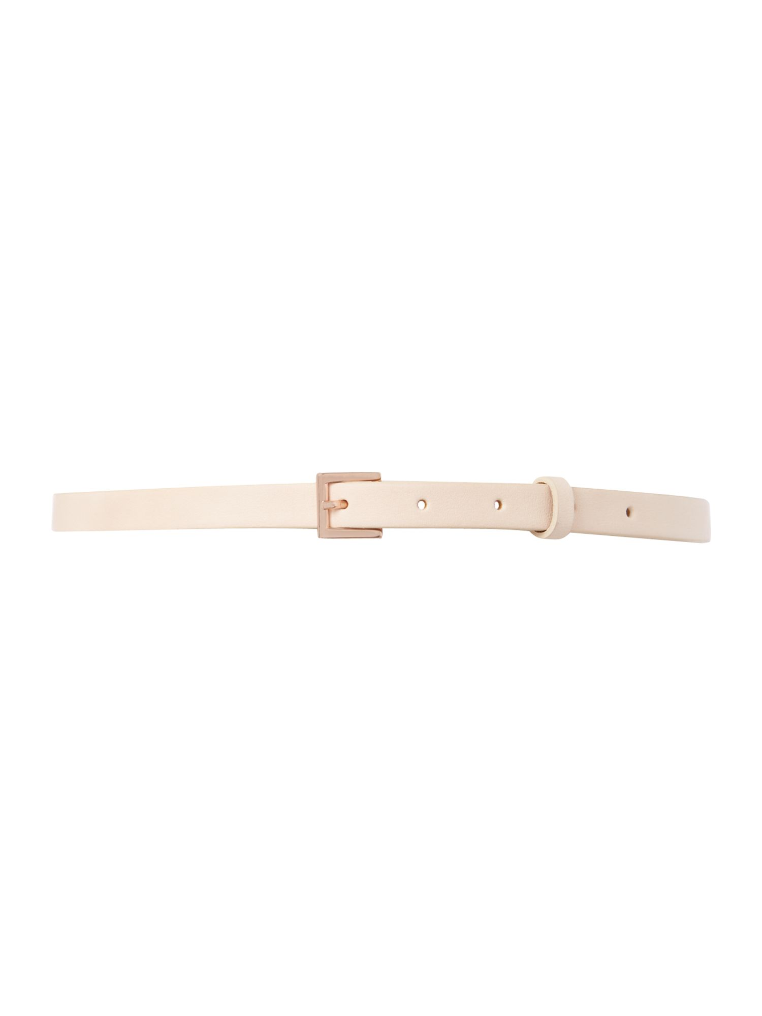 Neutral bow leather belt