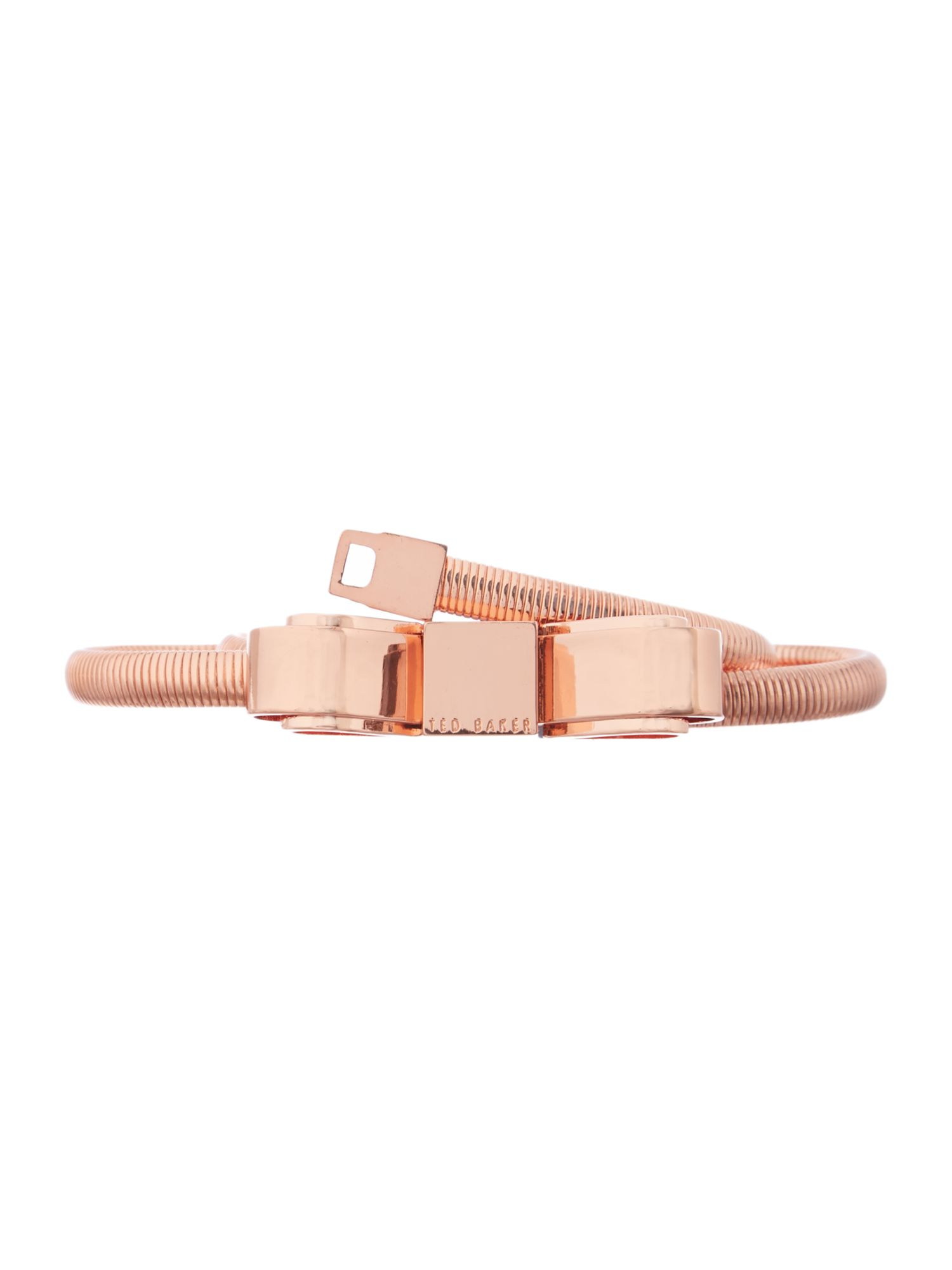 Skinny rose gold bow belt