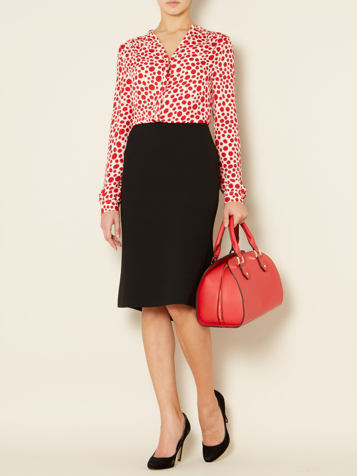 Rose essential tailored skirt