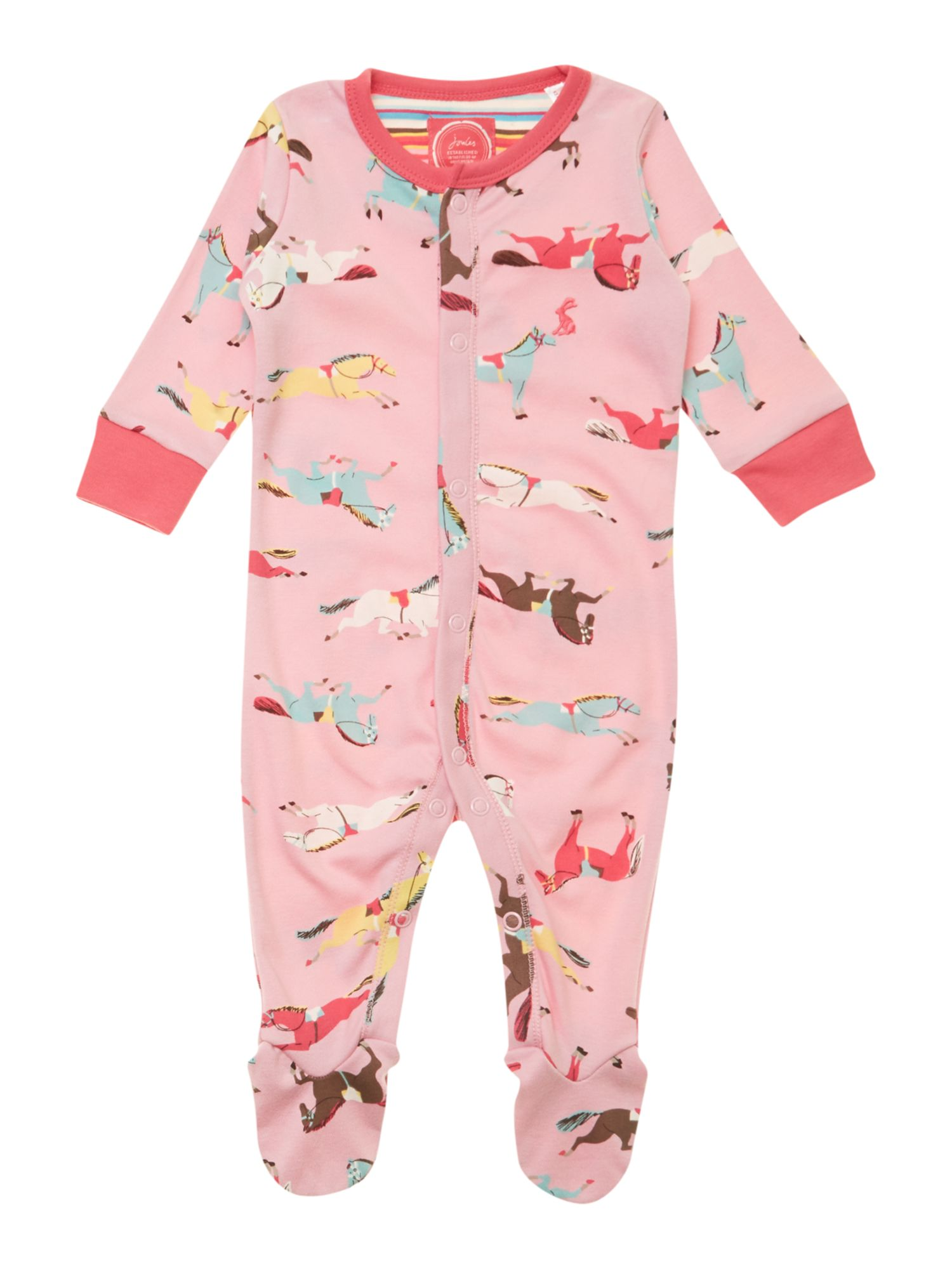 Girl`s horse print all-in-one