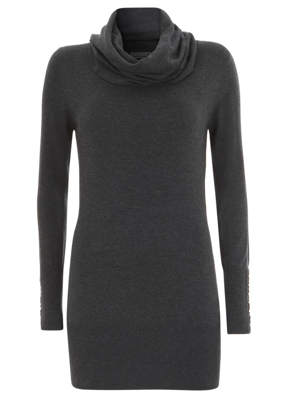 Charcoal cowl neck tunic