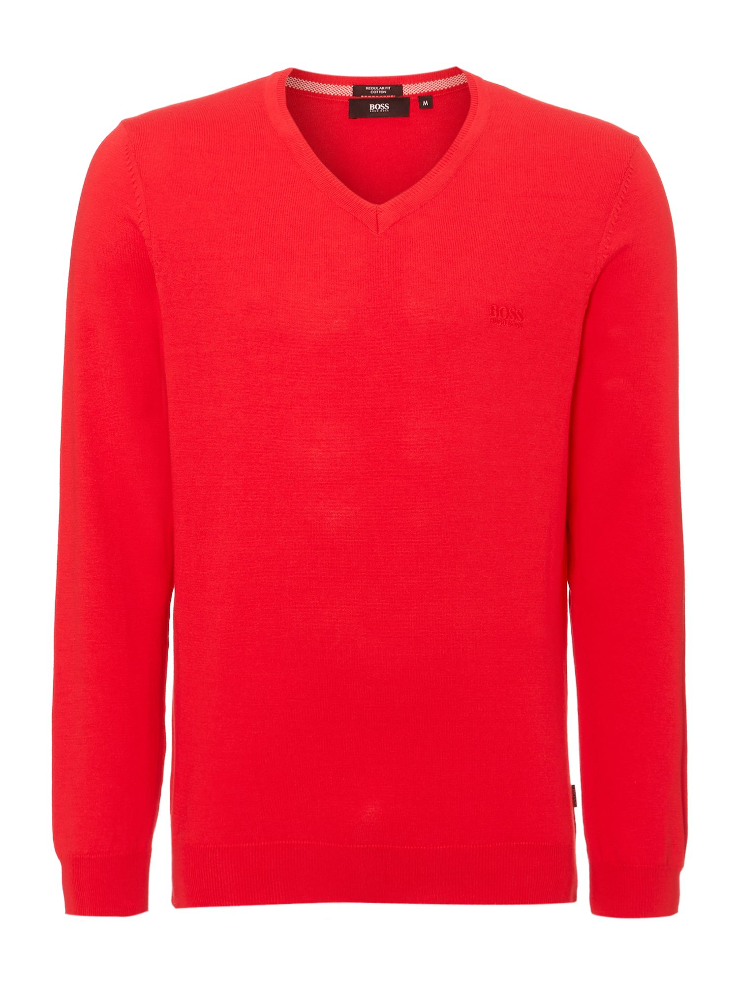 V neck logo jumper
