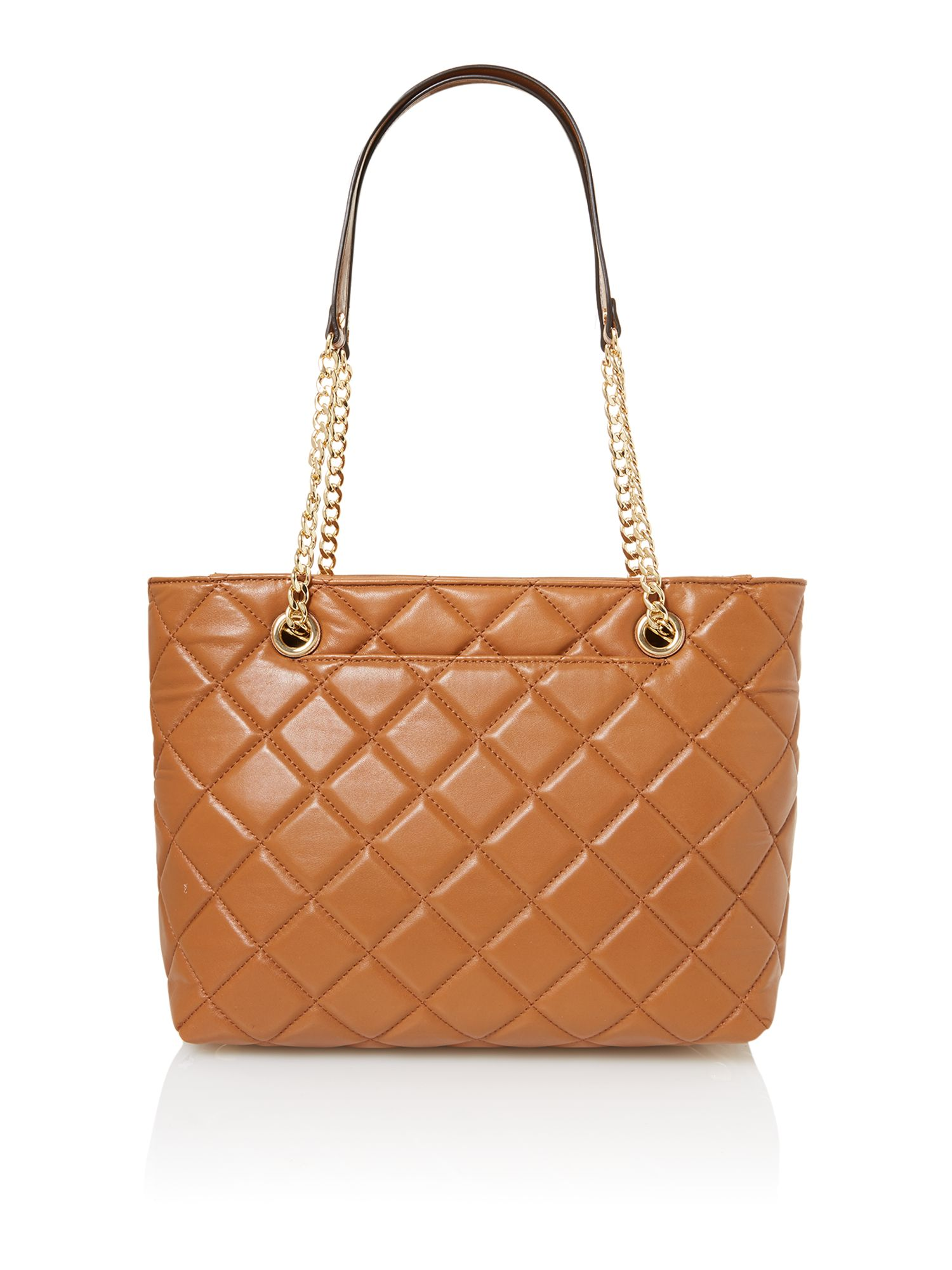 Fulton tan quilt tote bag