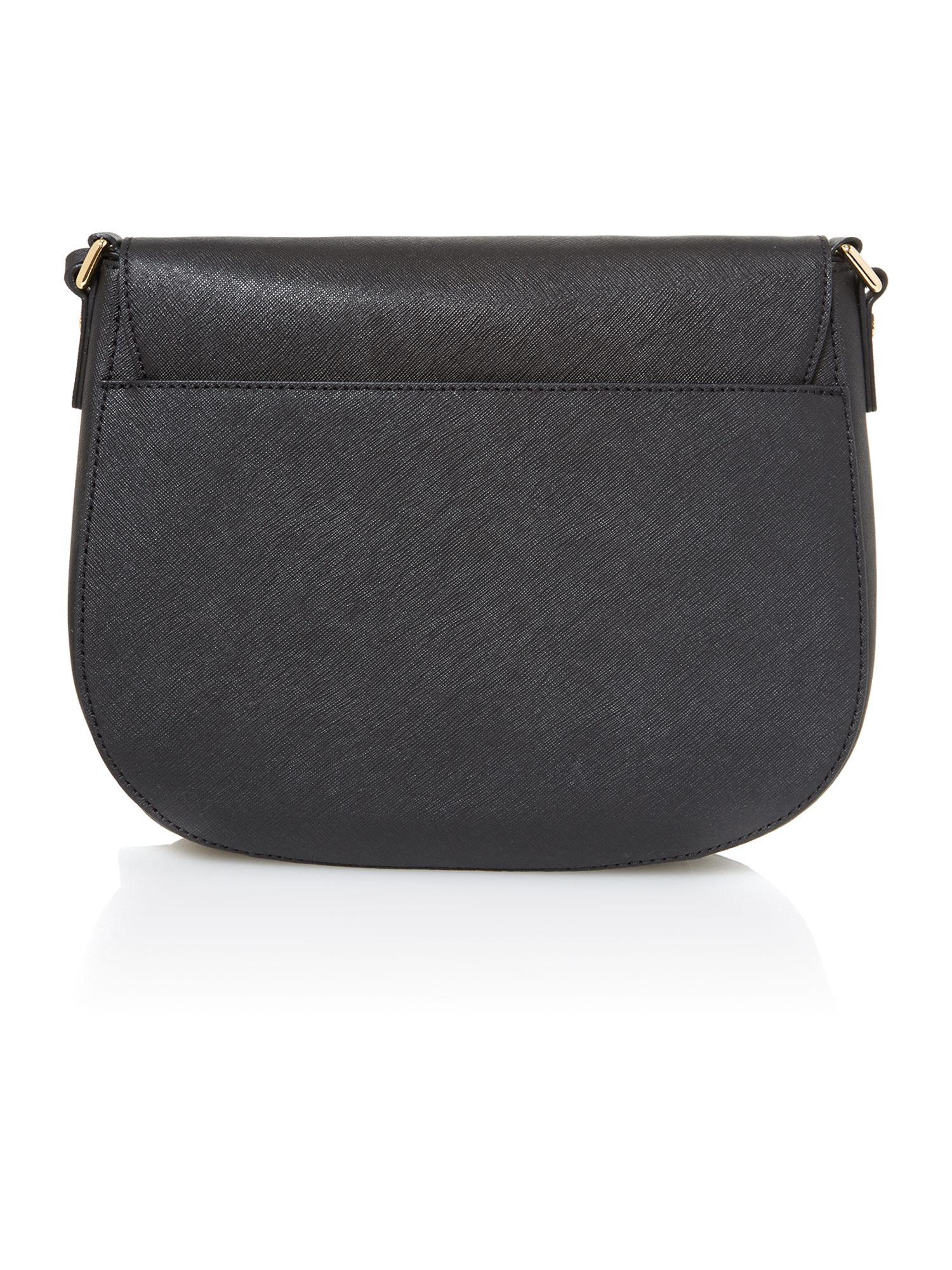 Hamilton black flapover cross body