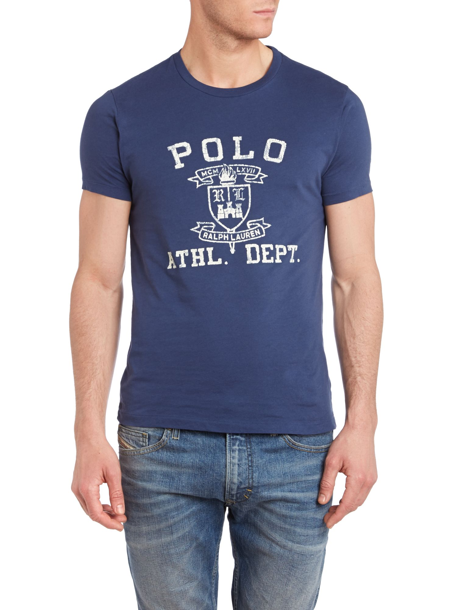 Polo athletics logo print custom fit t-shirt