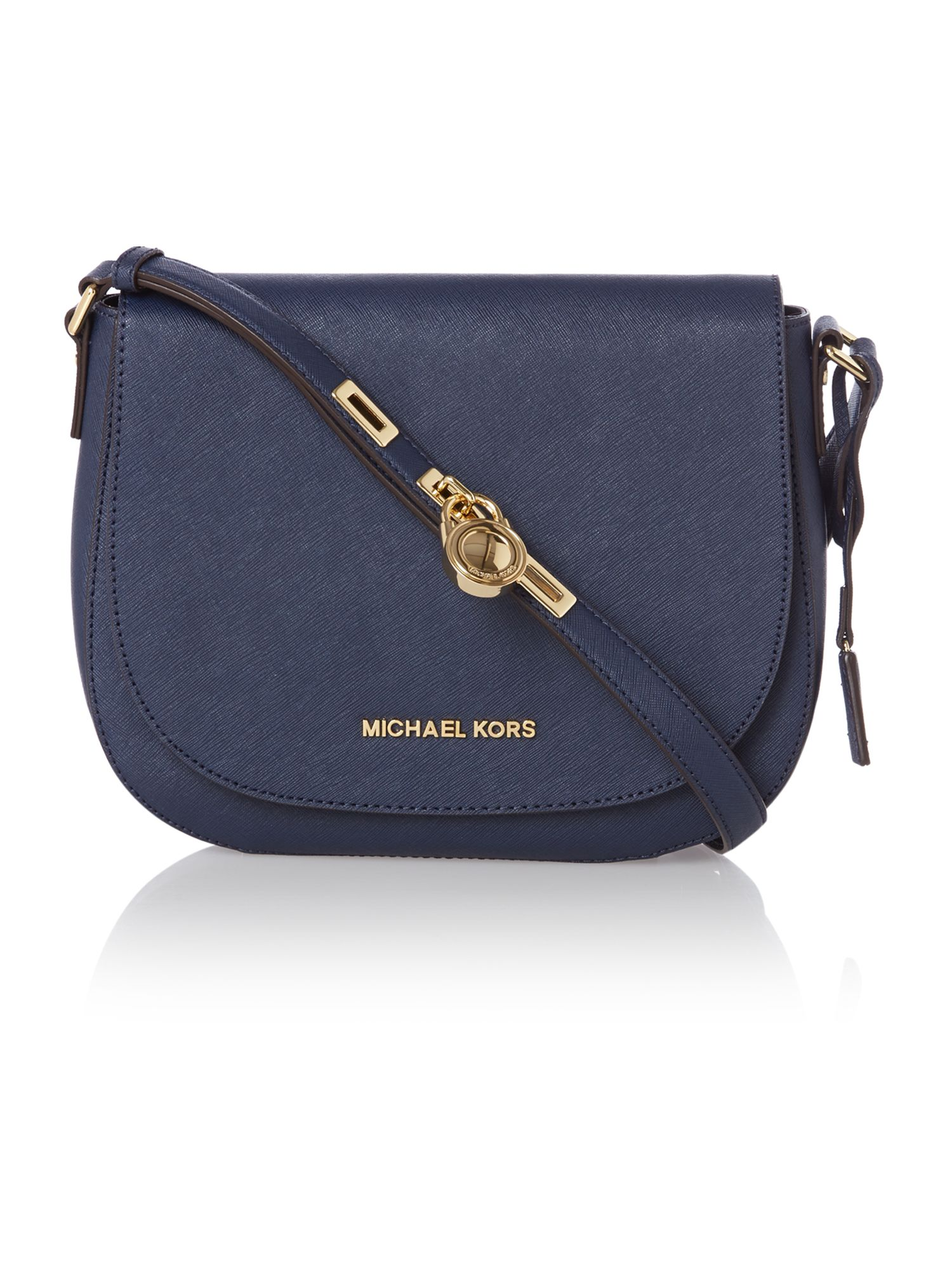 Hamilton navy flapover cross body