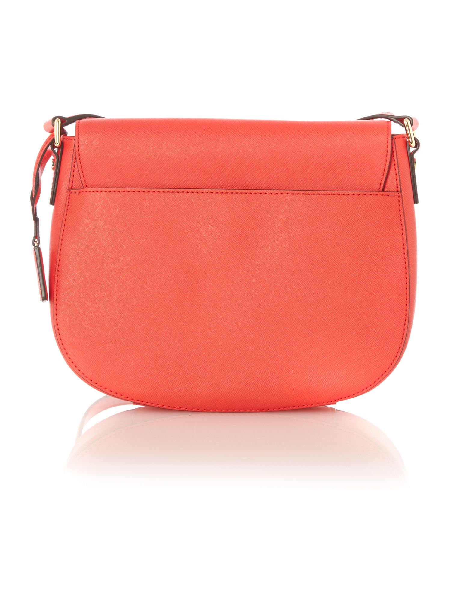 Hamilton red flapover cross body