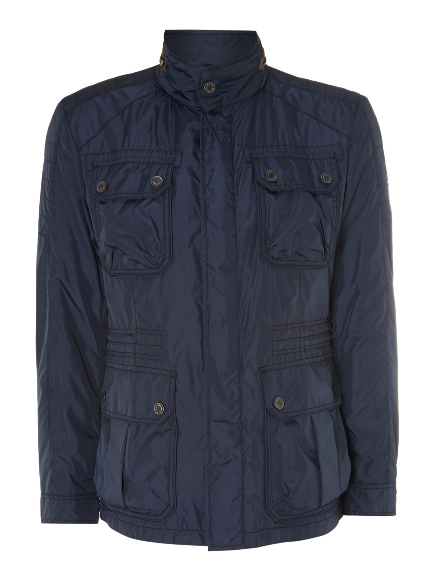 Nylon four pocket jacket