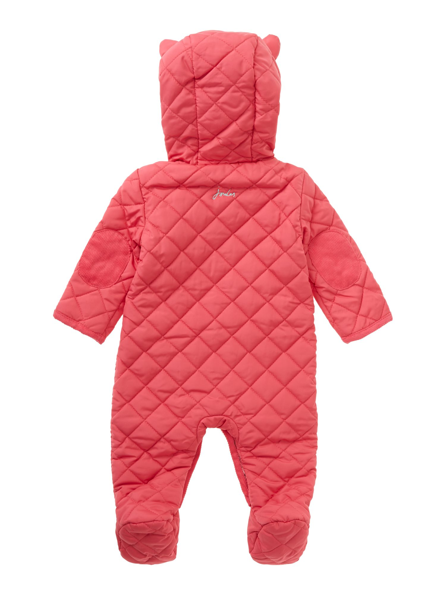 Girl`s quilted snowsuit